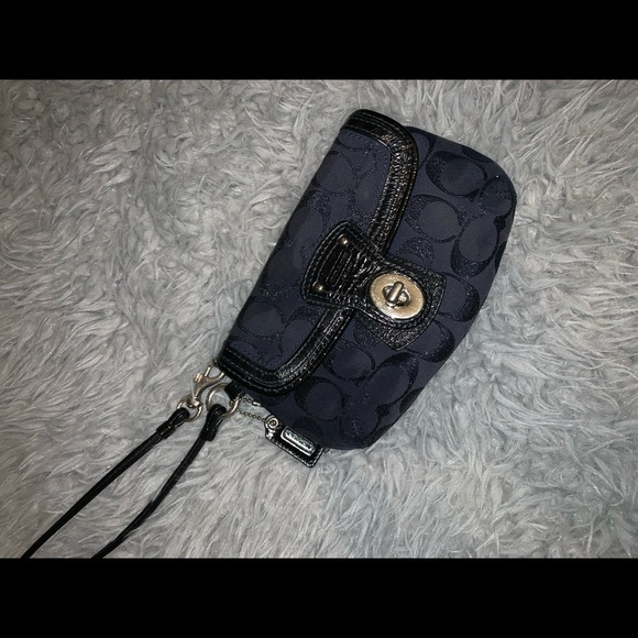 Coach Handbags - Blue Coach Wristlet
